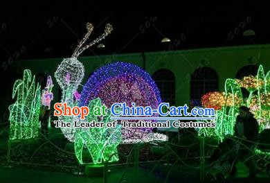 Traditional Christmas Snail Light Decorations Lamps Stage Display Lamplight LED Lanterns