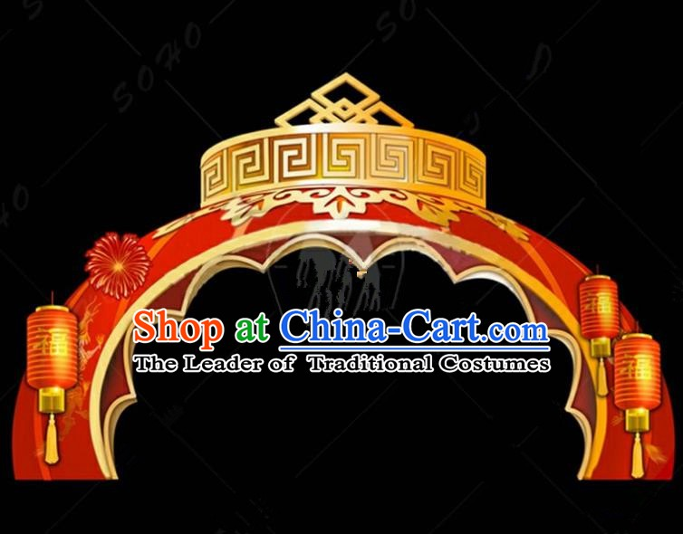 Handmade China Spring Festival Lights Archway Arrangement Lamplight Decorations Stage Display Lanterns