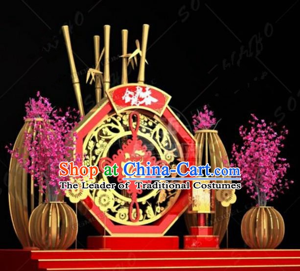 Handmade China Spring Festival Lamp Lamplight Decorations Stage Display Lanterns