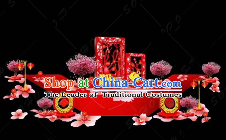 Handmade China Spring Festival Lamp Rooster Year Lamplight Decorations Stage Display Lanterns