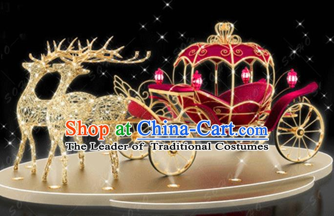 Traditional Elk Light Show Decorations Lamps Stage Display Lamplight LED Lanterns