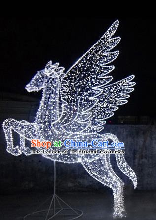 Traditional Handmade Christmas Shiny Decorations Horse Lights Lamplight Pegasus LED Lamp Lanterns