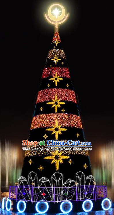 Traditional Handmade Christmas Shiny Decorations Black Christmas Tree Lights Lamplight LED Lamp Lanterns
