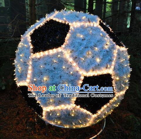 Traditional Handmade Christmas Lights Show Decorations Shiny Football Lamplight LED Lanterns