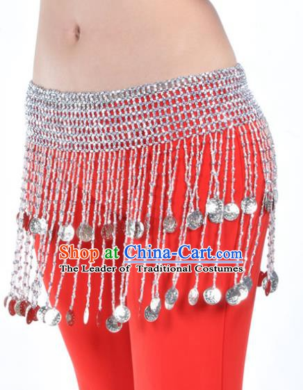 Indian Belly Dance Argent Tassel Belts Waistband India Raks Sharki Waist Accessories for Women