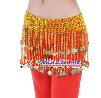 Indian Belly Dance Golden Tassel Belts Waistband India Raks Sharki Waist Accessories for Women