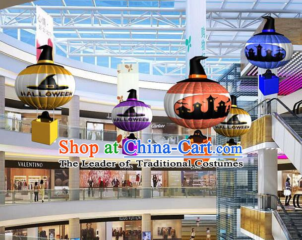 Handmade Halloween Decorations Hot Air Balloon Lanterns Stage Display Lamp