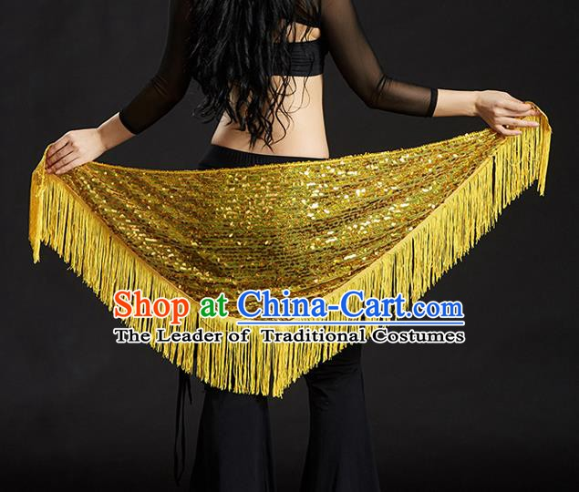 Indian Belly Dance Golden Tassel Waist Scarf Belts India Raks Sharki Waistband for Women