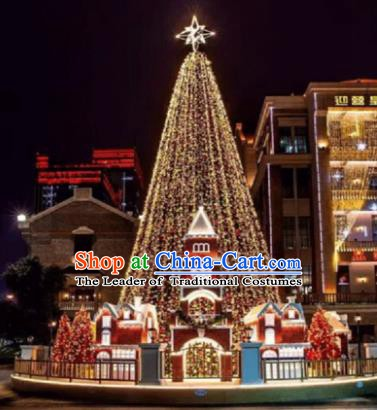 Traditional Shiny Christmas Tree Stage Lights Display Decorations Lamplight LED Lanterns