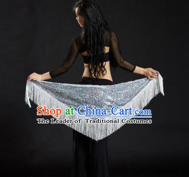 Indian Belly Dance White Tassel Waist Scarf Belts India Raks Sharki Waistband for Women
