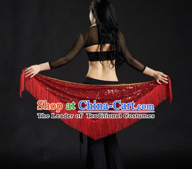Indian Belly Dance Red Tassel Waist Scarf Belts India Raks Sharki Waistband for Women