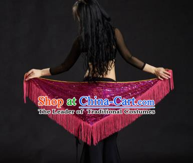 Indian Belly Dance Rosy Tassel Waist Scarf Belts India Raks Sharki Waistband for Women