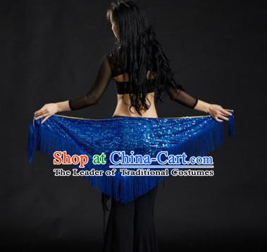 Indian Belly Dance Royalblue Tassel Waist Scarf Belts India Raks Sharki Waistband for Women