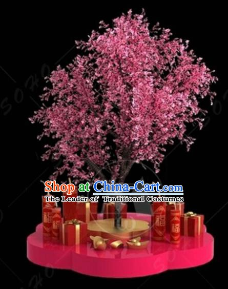 China Traditional New Year Lamp Peach Blossom Decorations Lamplight Stage Display Lanterns