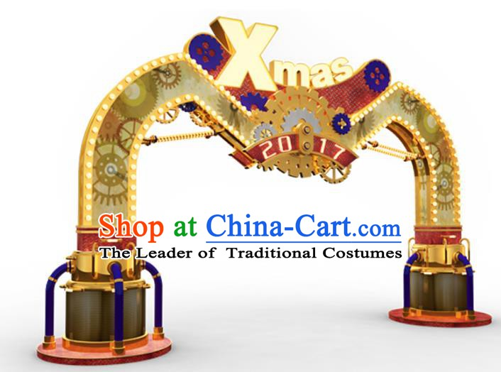 Traditional Christmas Archway LED Lights Show Lamp Decorations Stage Lamplight Display Lanterns