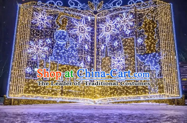 Traditional Christmas LED Lights Show Lamps Decorations Stage Lamplight Display Lanterns