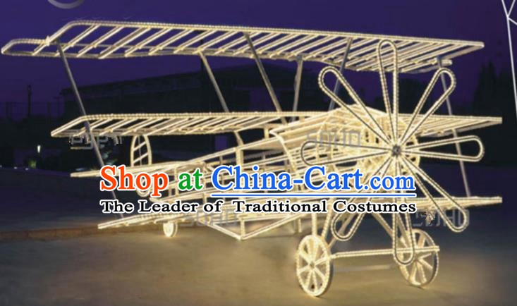 Traditional Christmas Airplane LED Lights Show Lamps Decorations Stage Lamplight Display Lanterns