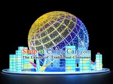 Traditional Christmas Earth LED Lights Show Lamps Decorations Stage Lamplight Display Lanterns