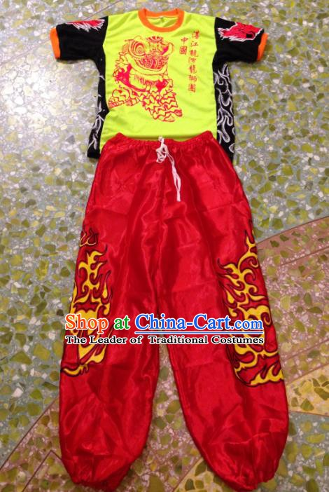 Chinese Traditional Professional Lion Dance Costumes for Men