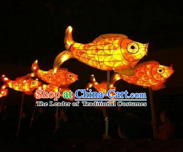 Traditional Chinese Red Carp Lantern Handmade Lanterns Ancient Lamp