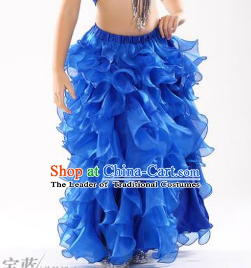 Traditional Indian Belly Dance Royalblue Skirts Asian India Oriental Dance Costume for Women