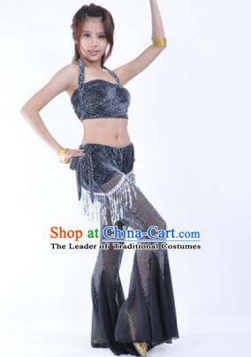 Traditional Indian Belly Dance Training Black Clothing India Oriental Dance Outfits for Women