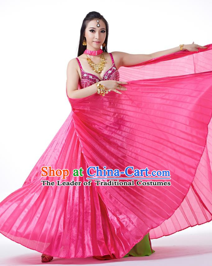 Indian Traditional Belly Dance Rosy Wings India Raks Sharki Props for Women