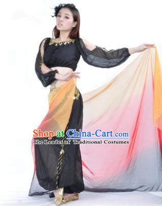Traditional Bollywood Dance Performance Black Clothing Indian Dance Belly Dance Costume for Women