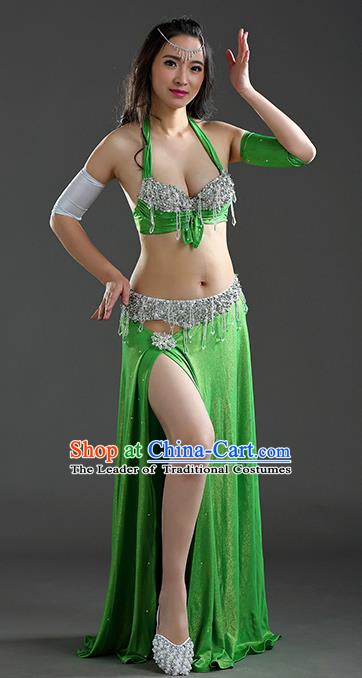Traditional Egypt Dance Green Dress India Oriental Belly Dance Costume for Women