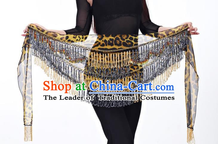 Indian Belly Dance Leopard Waist Scarf Belts India Raks Sharki Waistband for Women