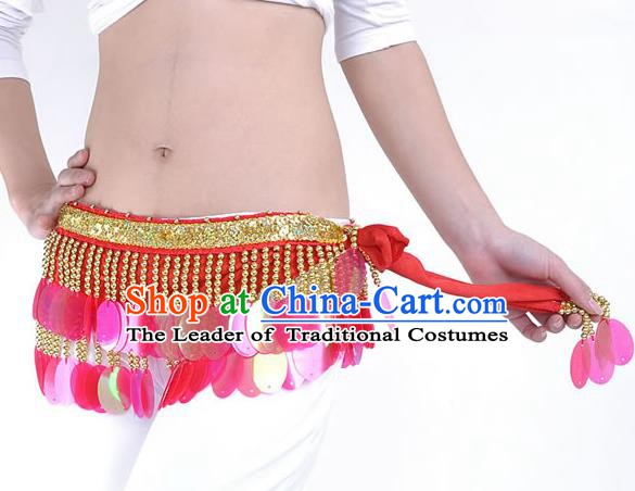 Traditional Belly Dance Sequin Waist Scarf Waistband India Raks Sharki Belts for Women