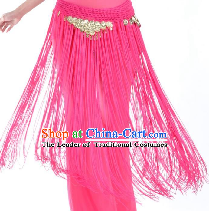 Indian Belly Dance Rosy Tassel Waist Chain Belts India Raks Sharki Waistband for Women