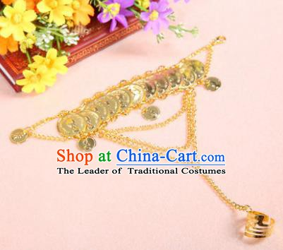 Indian Traditional Belly Dance Accessories Golden Bracelets for Women