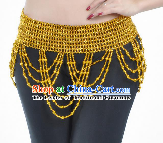 Indian Belly Dance Golden Waist Chain Belts India Raks Sharki Waistband for Women
