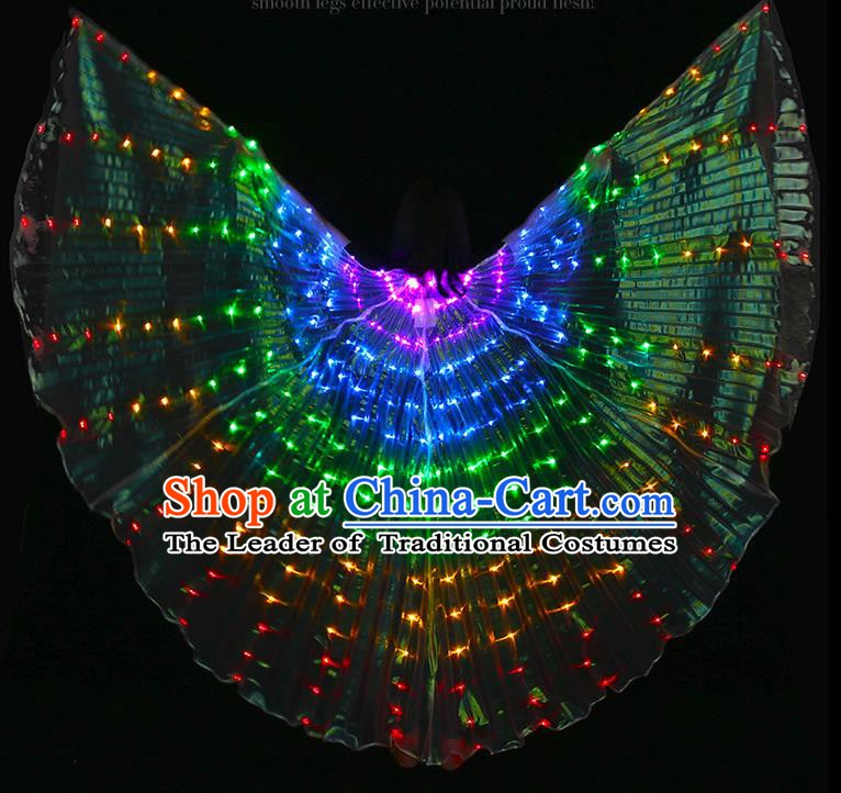 Indian Bollywood Belly Dance Props Led Light Wing for Women