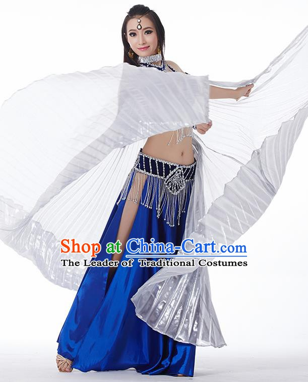 Traditional India Oriental Bollywood Dance Velvet Costume Indian Belly Dance Royalblue Dress for Women