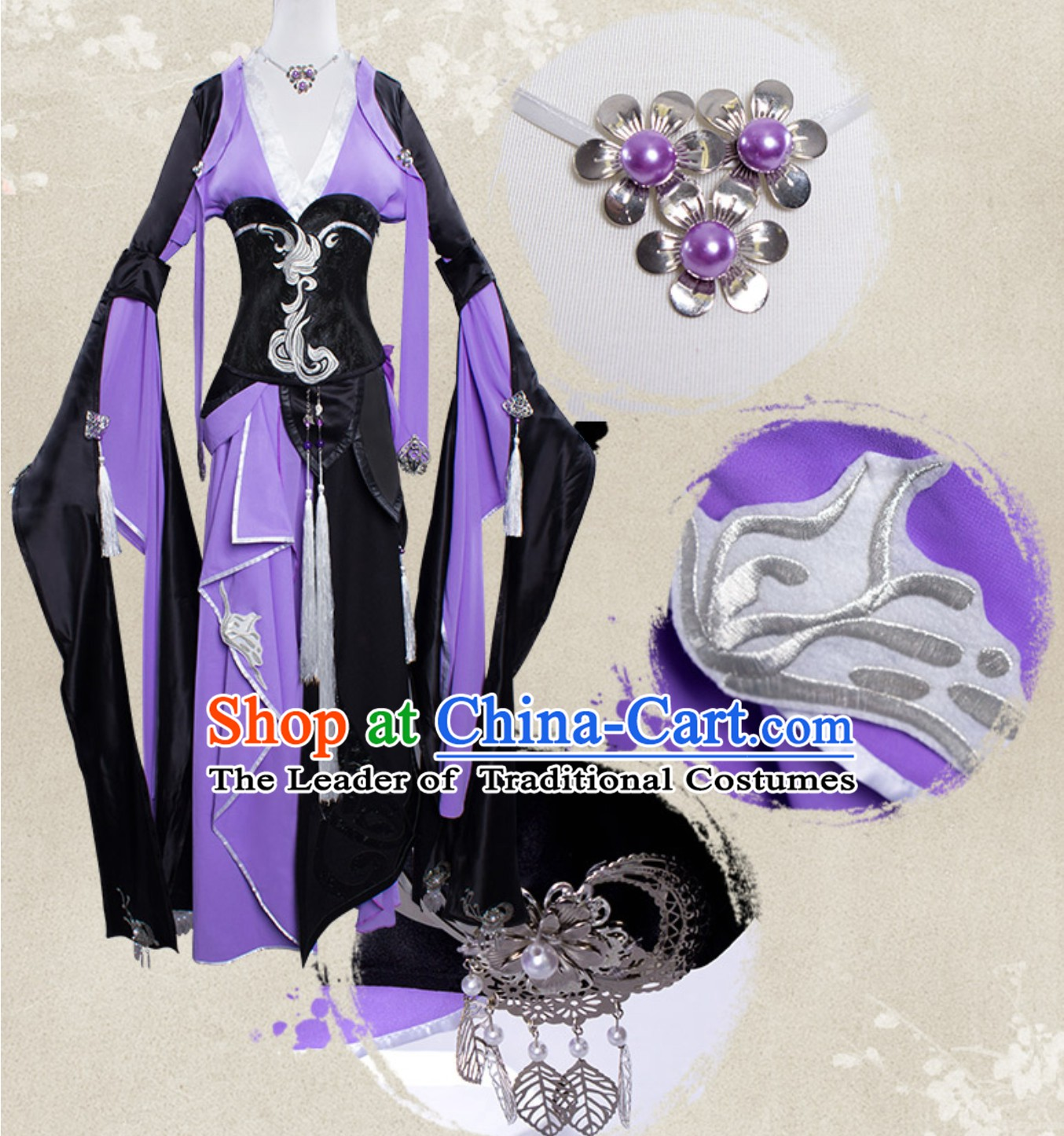 Asian Sexy Chinese Style Future Warrior Anime Costumes Superhero Costume Complete Set