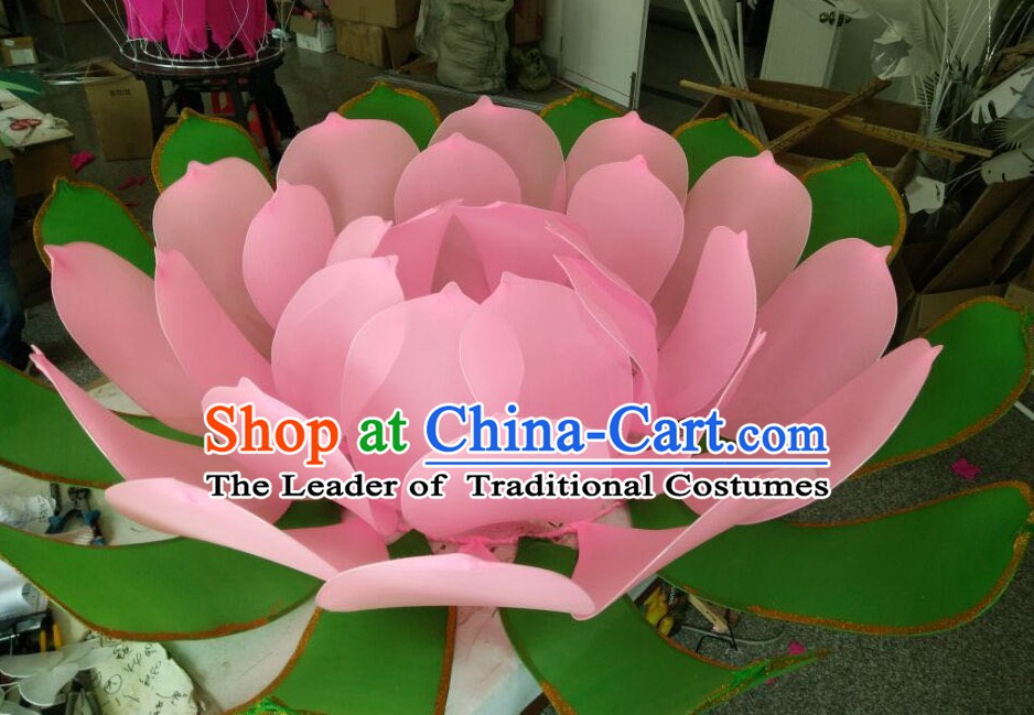 Handmade Stage Pond Giant 3 Meters Lotus Flower Props Arts