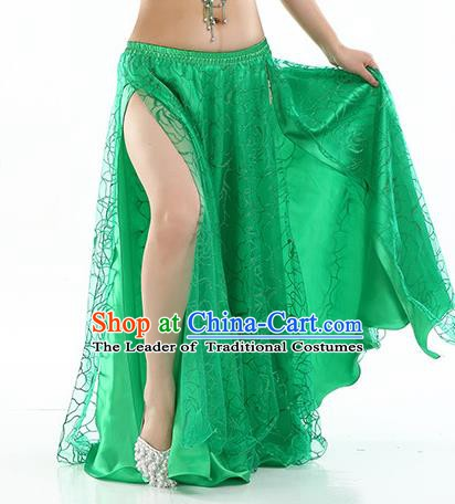 Asian Indian Belly Dance Costume Green Rose Skirt Stage Performance Oriental Dance Dress for Women
