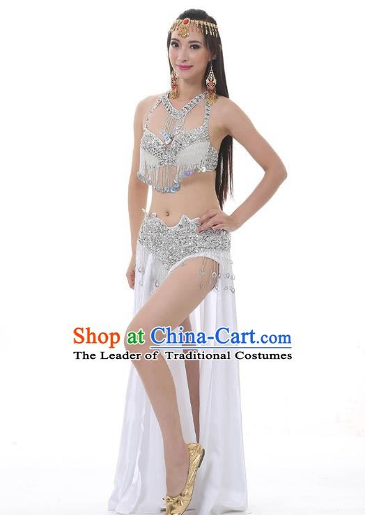 Indian Traditional Costume Tassel Dress Oriental Dance Belly Dance Stage Performance Clothing for Women