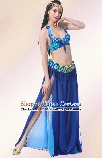 Indian Oriental Belly Dance Performance Royalblue Dress Traditional Raks Sharki Dance Costume for Women