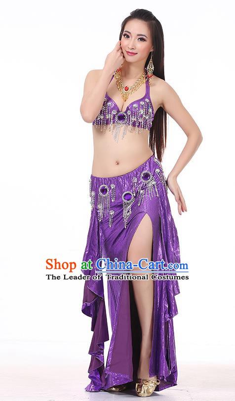 cef8eeb2b3 Top Indian Belly Dance Purple Dress India Traditional Raks Sharki Oriental  Dance Performance Costume for Women