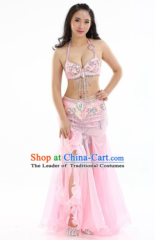 Top Indian Belly Dance India Traditional Raks Sharki Pink Dress Oriental Dance Costume for Women