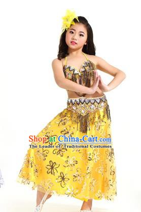 Asian Indian Children Belly Dance Dress Stage Performance Oriental Dance Clothing for Kids