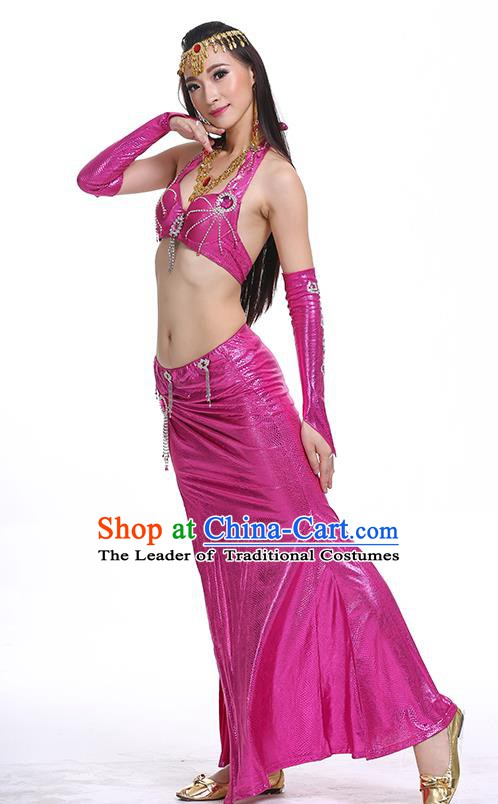 Egypt Belly Dance Rosy Dress India Raks Sharki Oriental Dance Clothing for Women