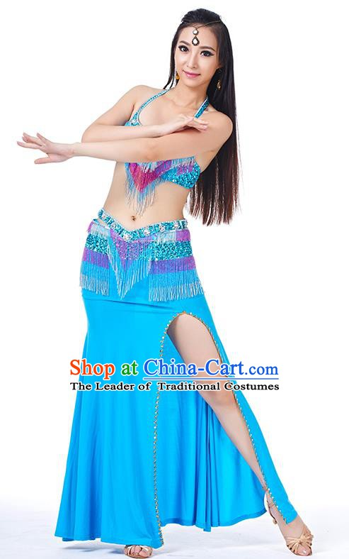 Egypt Belly Dance Blue Dress India Raks Sharki Oriental Dance Clothing for Women