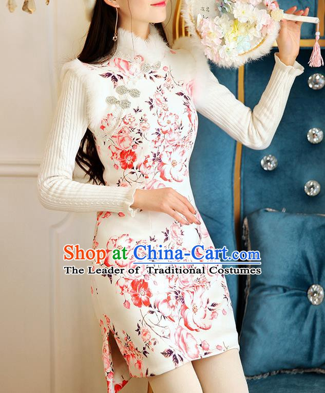 Chinese National Tangsuit Qipao Dress Cheongsam Vests Clothing for Women