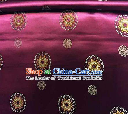 Chinese Traditional Fabric Palace Pattern Design Wine Red Brocade Chinese Mongolian Robe Fabric Asian Material