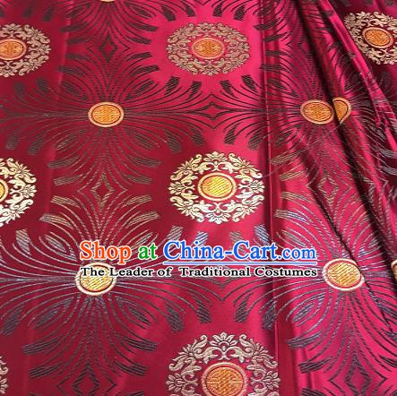 Chinese Traditional Fabric Mongolian Robe Rosy Brocade Chinese Fabric Asian Tibetan Robe Material