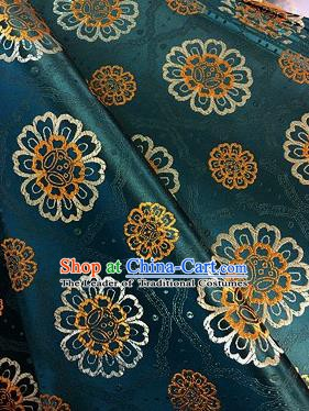 Chinese Traditional Fabric Mongolian Robe Flowers Pattern Brocade Chinese Fabric Asian Tibetan Robe Material